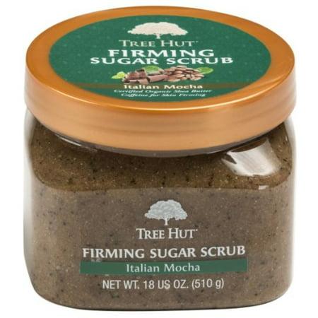 Tree Hut Firming Sugar Scrub, Italian Mocha 18 oz (Pack of 6)