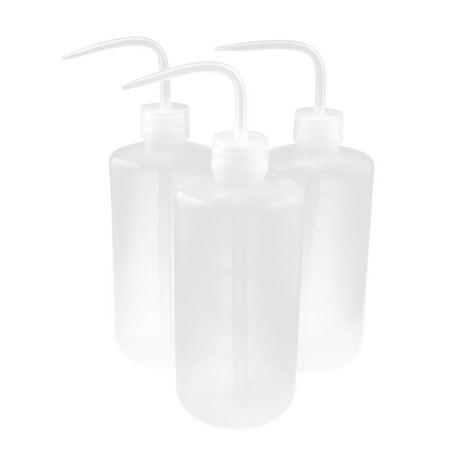 (Unique Bargains 3pcs Clear Plastic Bent Tip Oil Liquid Squeeze Bottle Holder 500ml)
