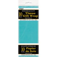 Tissue Paper Sheets, 26 x 20 in, Teal, 10ct