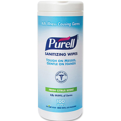 Purell Fresh Citrus Scent Sanitizing Wipes, 100 sheets