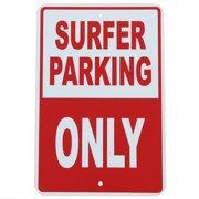 SURFER PARKING ONLY Tin Metal Wall Sign Bedroom Dorm Rec Room Surfing Surf Decor
