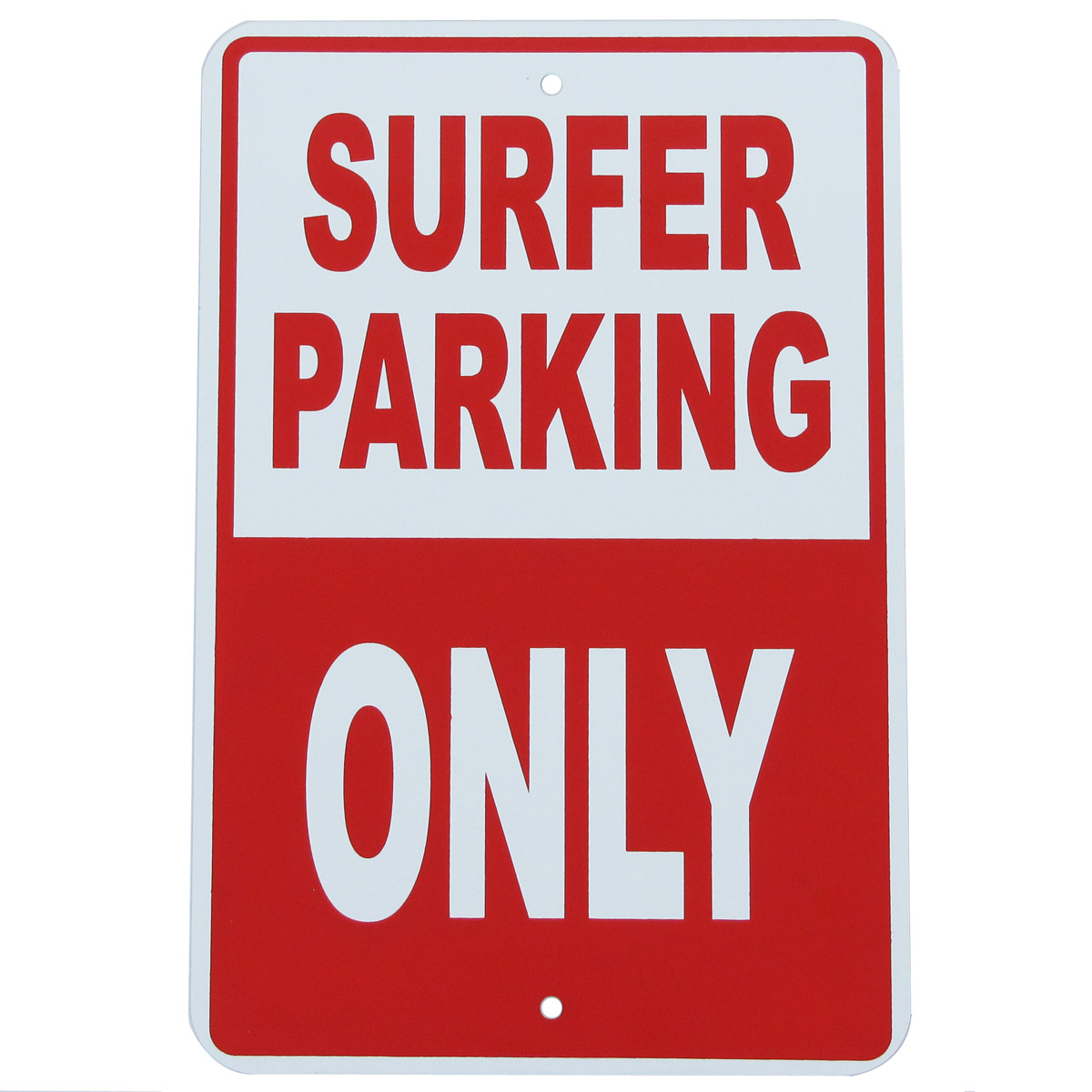 SURFER PARKING ONLY Tin Metal Wall Sign Bedroom Dorm Rec Room Surfing Surf Decor