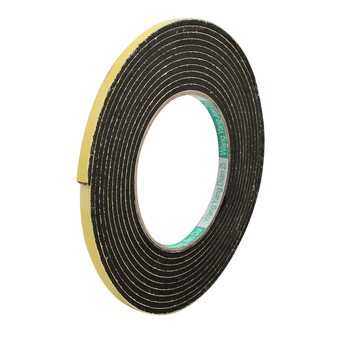 5mm Width 2mm Thick Single Sided Sealing Shockproof Sponge Tape 5m Length