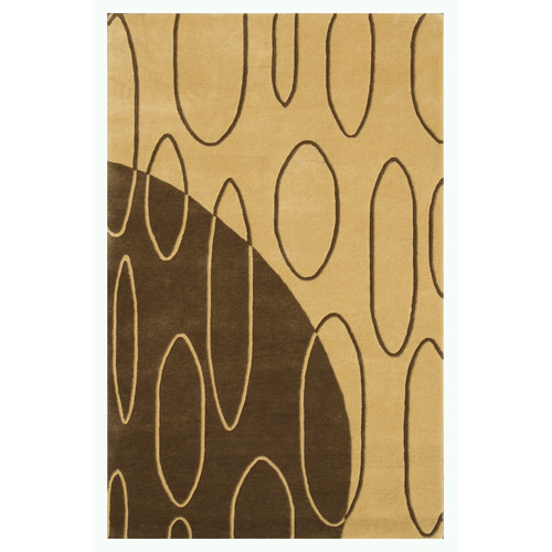 Noble House Aria Light Gold Shag Area Rug