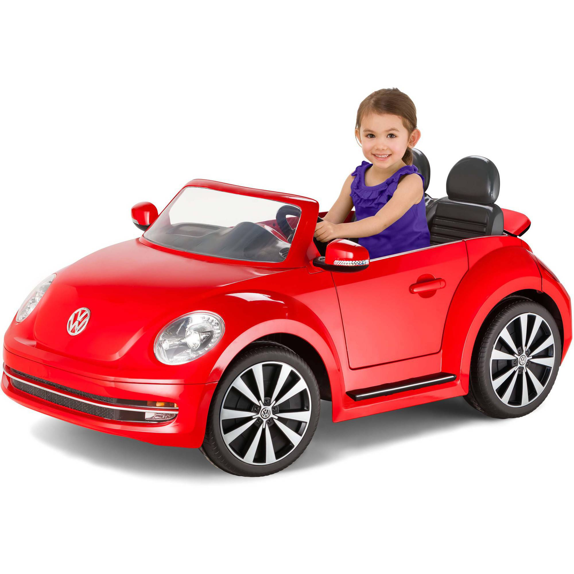 kid trax vw beetle convertible 12 volt battery powered ride on black walmartcom