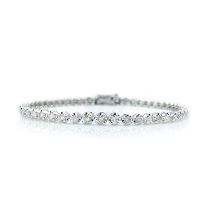 14K White Gold Diamond Tennis Bracelet with 2.00CT of Diamonds by GOLDA CO