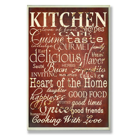 The Stupell Home Decor Collection Red Kitchen Words Typography Wall Plaque Red Seat Plaque