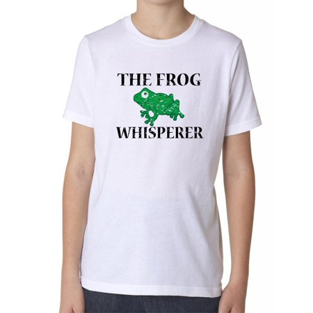 The Frog Whisperer - Cute Reptile Love Graphic Boy's Cotton Youth (Boss Frog)