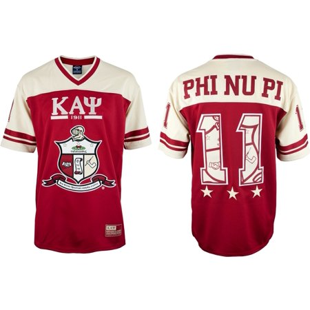 Kappa Alpha Psi Halloween Party (Big Boy Kappa Alpha Psi Divine 9 S7 Mens Football Jersey [Crimson Red -)