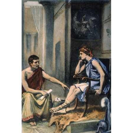 Alexander & Aristotle Naristotle (384-322 BC) Tutoring Alexander The Great  (356-323 BC) C342-335 BC After A Painting C1895 By Jean Leon Gerome Ferris  Rolled Canvas Art - (24 x 36) - Walmart.com - Walmart.com