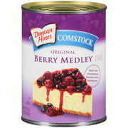 (3 Pack) Duncan Hines Comstock Original Berry Medley Pie Filling & Topping, 22 oz