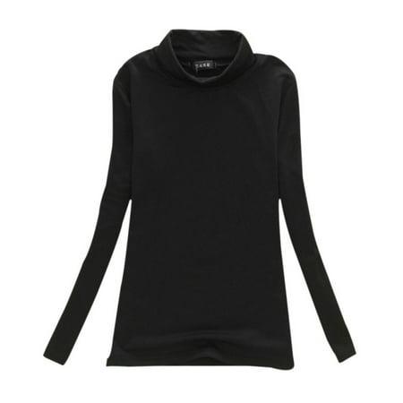 Mock Layer Star - GRACELY Womens Long Sleeve Slim Fit Mock Turtleneck Stretch Comfy Basic T Shirt Layer Top