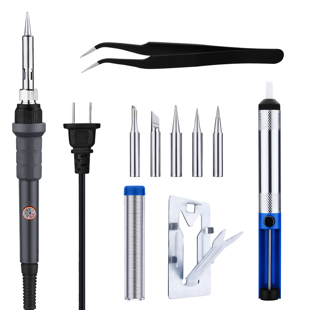 VicTsing 60W 110V Soldering Iron Kit Adjustable Temperature, 5pcs Different Tips, Stand,... by