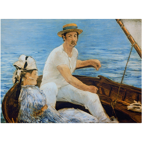 "Trademark Fine Art ""Boating"" 1874 Canvas Art by Edouard Manet"