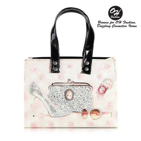 OH Fashion Women Handbag The Mini Bag Truly Chic Diamonds PU Leather Handbag Shoulder Bag Tote Purse Clutch Fashion Girls Design Purely Chic (Diamond Ladies Leather)