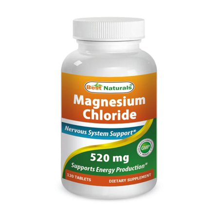 Best Naturals Magnesium Chloride 520 mg 120 (Best Magnesium For Muscle Cramps)