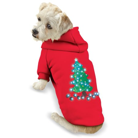 Lighted Christmas Dog Outfit Jacket, Small, Tree
