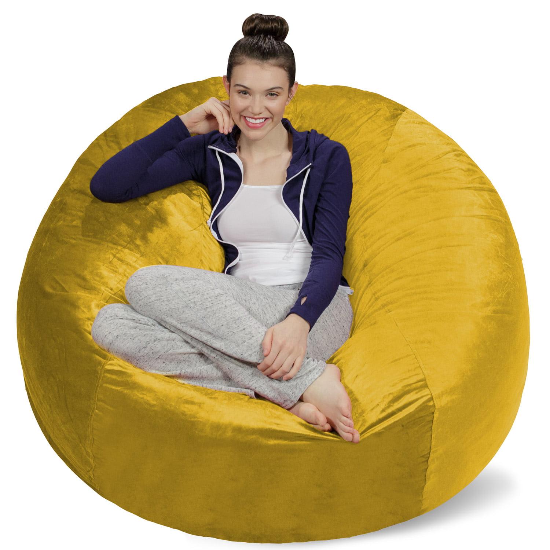 Sofa Sack Memory Foam Bean Bag Chair 5 ft Walmart