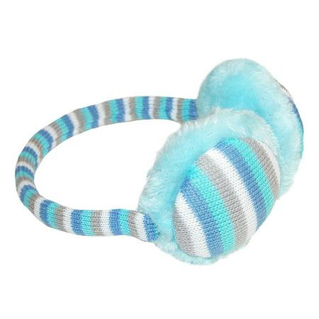 Size  one size Kids' 7-16 Striped Over the Head Earmuffs (Pink Kids Earmuff)