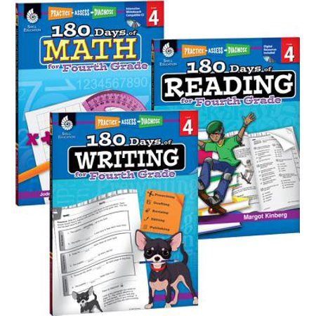 180 Days of Reading, Writing and Math for Fourth Grade 3-Book