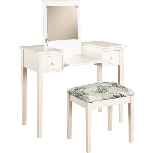 Linon Home Butterfly Vanity Set With Flip Top Mirror And Stool, Multiple  Colors   Walmart.com