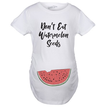 Crazy Dog TShirts - Maternity Don't Eat Watermelon Seeds Tshirt Funny Pregnancy Tee