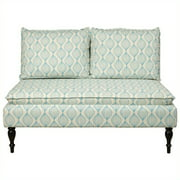 Banquette, Upholstered Pattern Blue