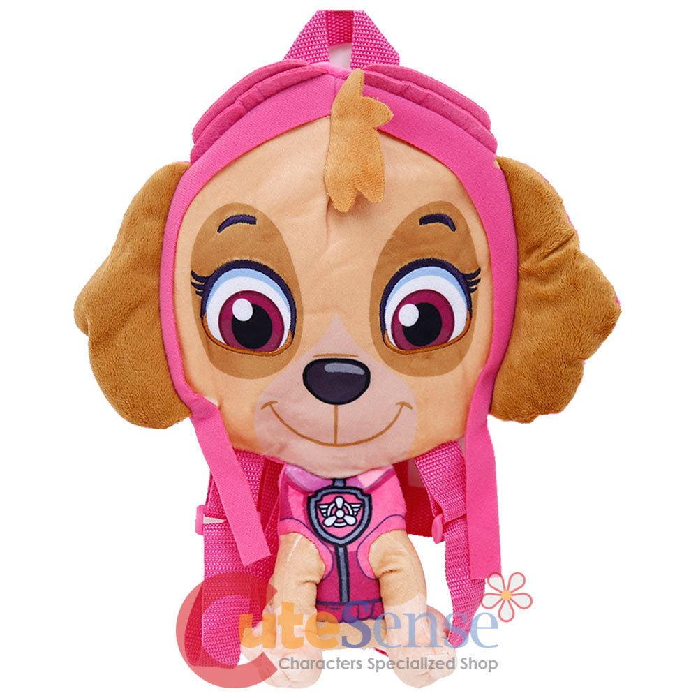 "Paw Patrol Skye Plush Doll Backpack 14"" Flat Plush Girls Costume Bag"