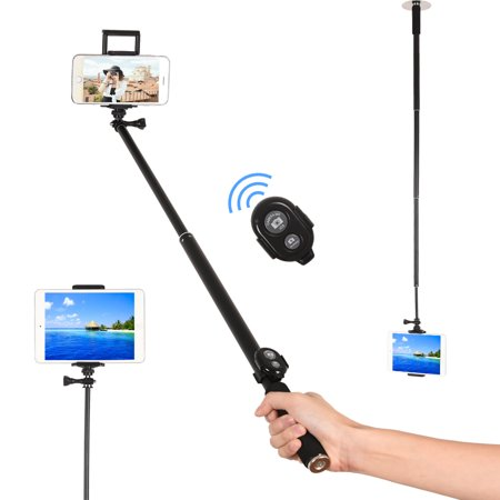 Sundale Outdoor Universal Phone Tablet Stand Holder Mount Stand Bluetooth Selfie Stick Magnetic Ceiling Mounted Lazy Bracket Adjustable for Any Height and Angle for All