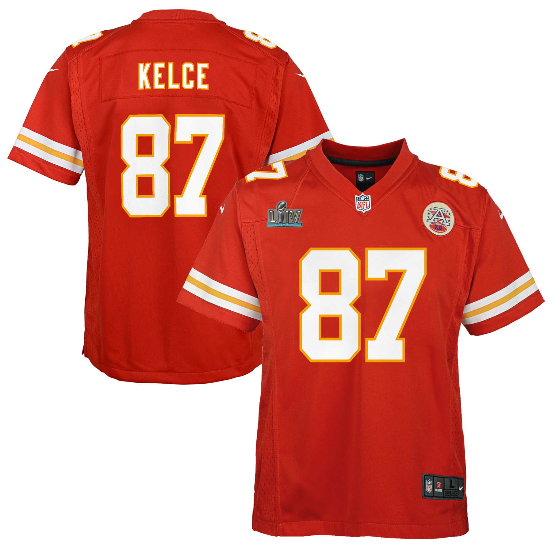 Travis Kelce Kansas City Chiefs Nike Youth Super Bowl LIV Game Jersey - Red - Walmart.com
