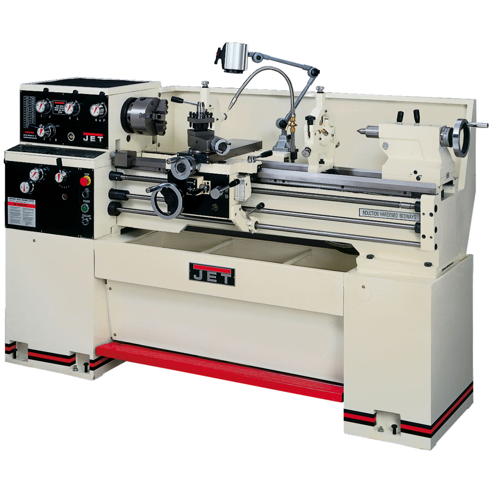 Jet 321548 GH-1440W-1 Lathe with ACU-RITE 200S DRO and Collet Closer Installed
