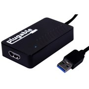 Plugable USB 3.0 to HDMI Video Graphics Adapter with Audio for Multiple Monitors up to 2560x1440 (Supports Windows 10, 8.1, 7)