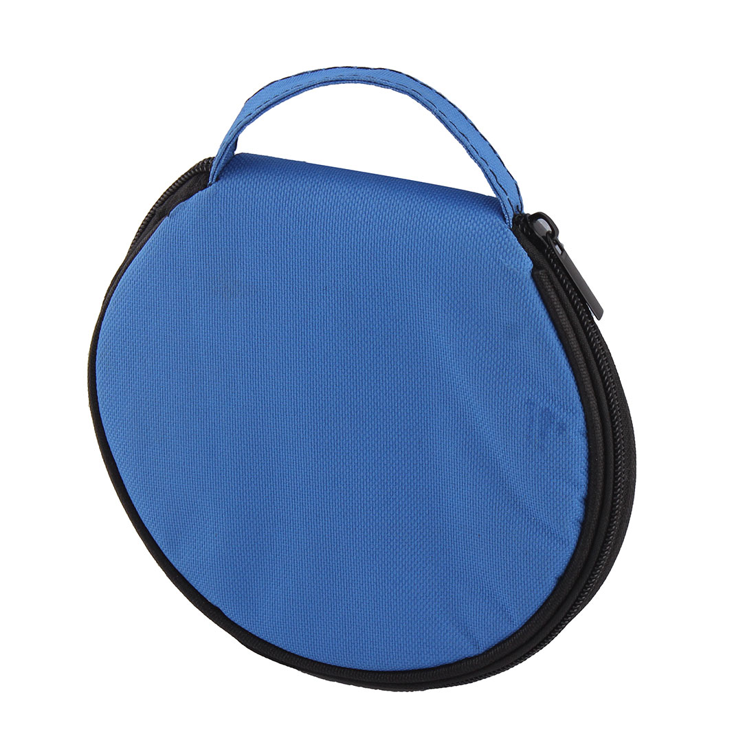 DVD VCD Nylon Round 20 CD Capacity Wallet Holder Storage Case Organizer Blue