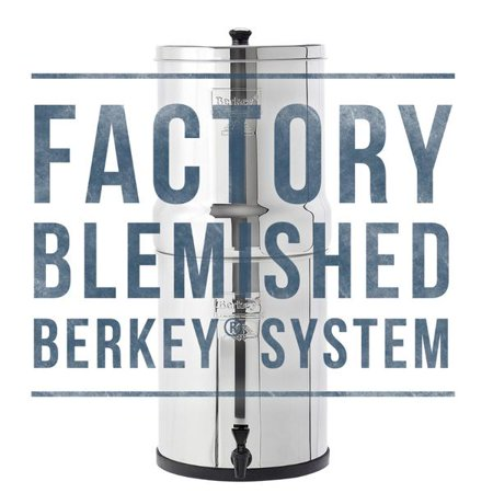 Factory Blemished Berkey Water Filter Systems: Travel, Big, Royal, Imperial, Crown (Barney Water Bottle)