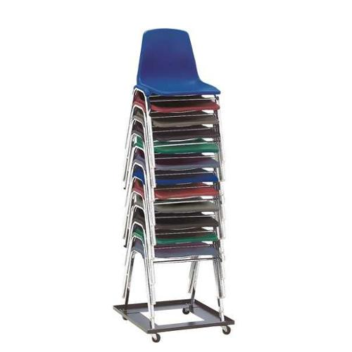 NATIONAL PUBLIC SEATING DY81 Poly Shell Chair Dolly, 12 Capacity