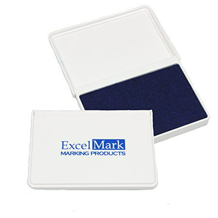 ExcelMark Blue Ink Pad for Rubber Stamps 2-1/8
