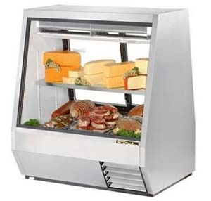"True TDBD-48-2 - 48"" Deli Case - Double Duty No Front Doo..."