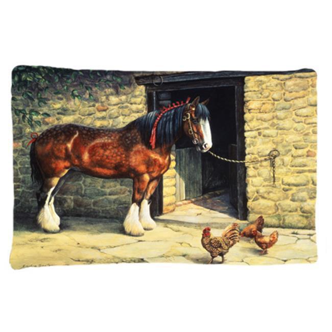 Carolines Treasures BDBA0087PILLOWCASE Horse & Chickens by Daphne Baxter Fabric Standard Pillowcase - image 1 of 1