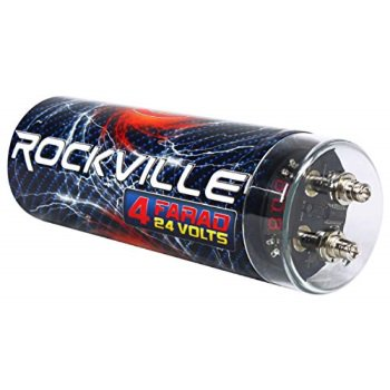 Rockville RXC4D 4 Farad Digital Car Capacitor Blue LED Voltage Display  Power Cap