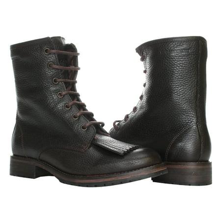 - 1883 by Wolverine Rosie 6 Kiltie Lace Up Burgundy Leather Women's Boots W40078