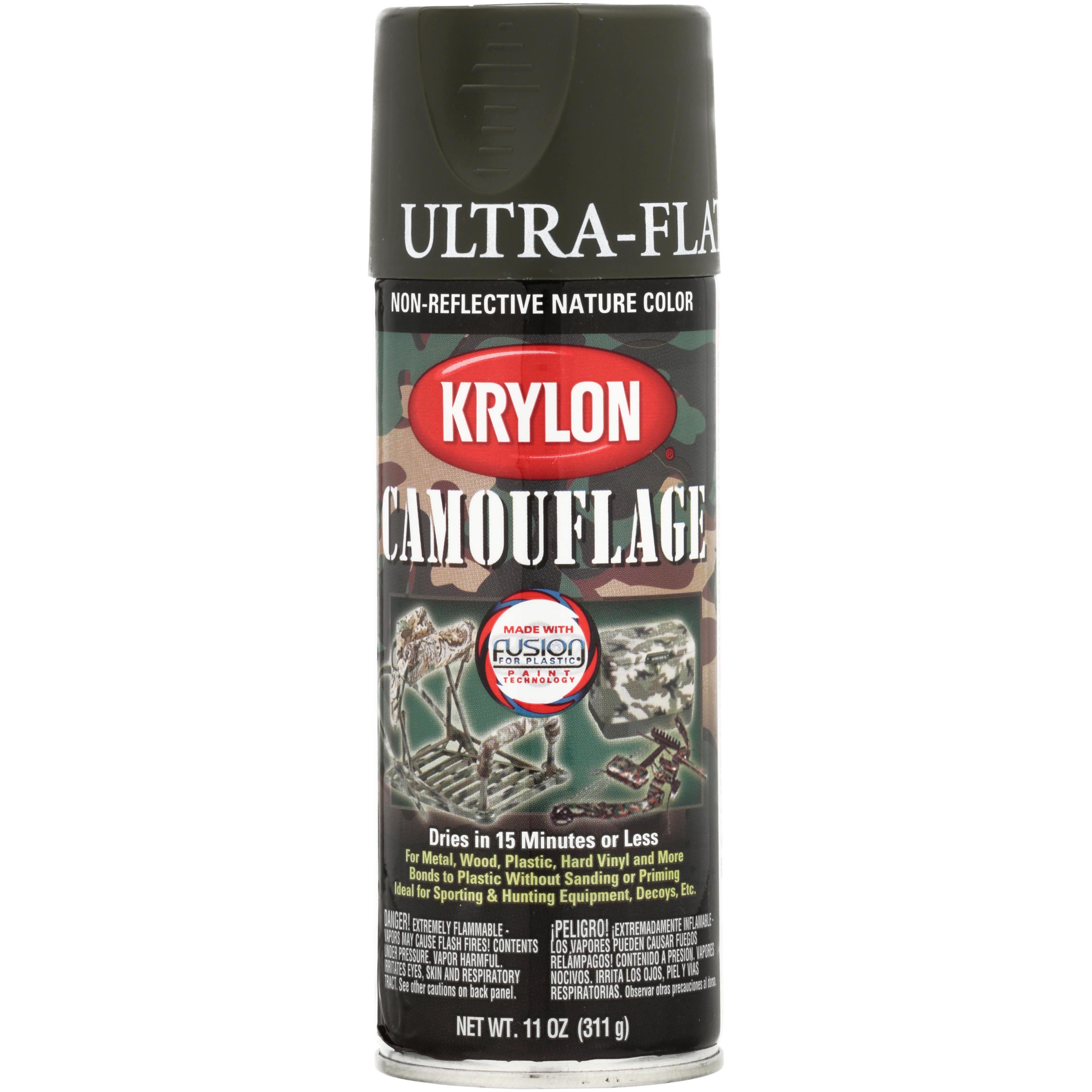 Krylon® Ultra-Flat Non-Reflective Nature Color Olive Camouflage Spray Paint 11 oz. Can