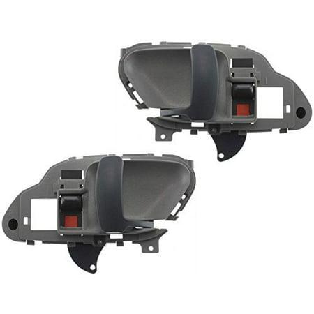 - Chevy Tahoe C/K Yukon 95 - 02 Front Inner Gray Door Handle Set 15708044 15708043 By Aftermarket Auto Parts