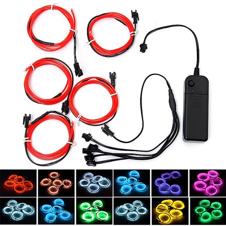 SOLMORE 5x1 Metre Waterproof LED USB EL Wire Neon Glowing Strobing Light Party  Party Wedding Decoration - Neon Colors Decorations