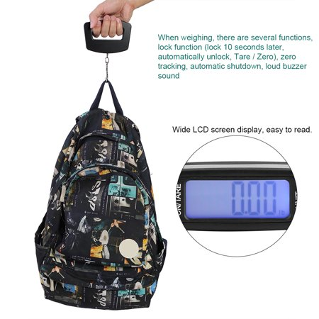 2530d575a28f WeiHeng Mini Scale Electronic Portable Weight Luggage LCD Digital ...