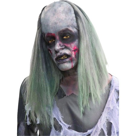 Morris Costumes New Grave Robber Scary Zombie Straight Sooty White Wig, Style FM66461](Scary Spice Wig)