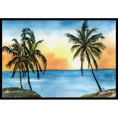 Caroline's Treasures Palm Tree Doormat by Caroline's Treasures