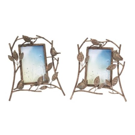 Pack of 4 Antique Bronze Birds and Owls Table Top Picture Frames 10