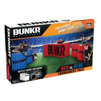 BUNKR Build Your Own Battlezone Inflatable Red Vs. Blue Tournament 5 Piece Pack. (Compatible with Nerf, Laser X, X shot and Boom co Battles)