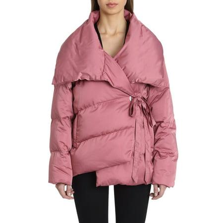 Avec Les Filles Wrap Puffer Jacket](laundry by shelli segal puffer coat with faux fur trim)