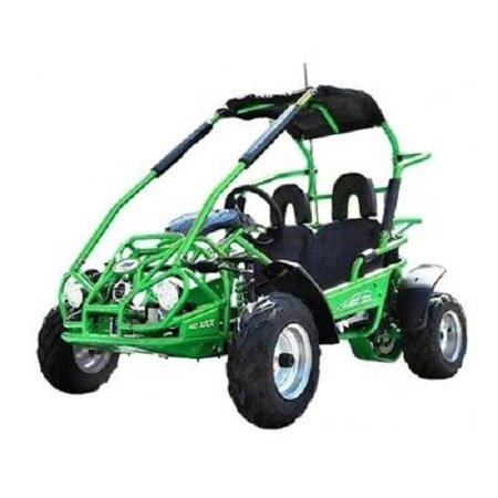 Green TrailMaster Mid XRX 200CC High Quality Go Kart w/Pull Start & Electric Start